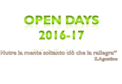 Open days 2016-2017