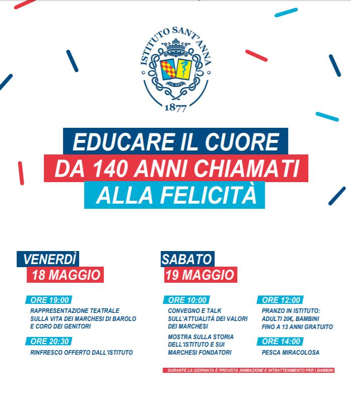 Festa dei 140 anni dell'Istituto Sant'Anna